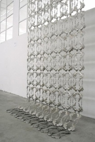 Adeela Suleman AFTER ALL IT'S ALWAYS SOMEBODY ELSE WHO DIES III (Ed. 1/2) 2010 Stainless steel 111 x 82.5 in.