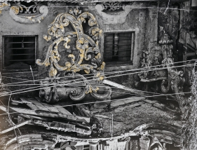Najmun Nahar Keya  Kintsugi Dhaka (3)  2019  Photograph on archival paper, gold leaf, archival glue  13 x 17 in