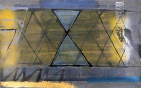 S. Harsha Vardhana UNTITLED 45 2007 Acrylic on paper 30 x 48 in.  UNAVAILABLE