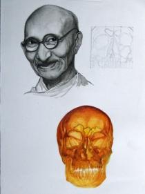 Debanjan Roy UNTITLED 2 2009 Acrylic on paper 14 x 11 in.