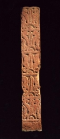 Railing Pillar Northern India. Kushan period / 1st-2nd century Red mottled sandstone Height : 49.2 in.