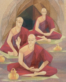 THE MONKS II 2006 Oil on canvas 60 x 48 in.
