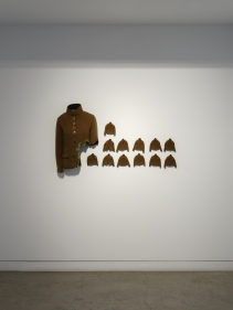 Ruby Chishti  Another Whole  2020  Tailored Jacket, flocking powder, thread, papier mache, needle, archival glue  Dimensions Variable