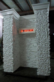 T V Santhosh THE LAST COMMAND 2010 Fibreglass, steel and LED screen 77.5 x 63 x 47 in NFS