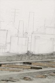 Saad Qureshi Via Doloroso 2009 Acrylic, oil, emulsion, pencil, newspaper on canvas 61.2 x 40.8 in.