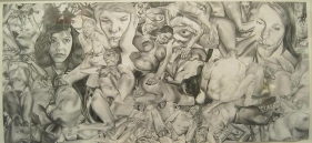 Alan Michael UNTITLED 1999 Pencil on paper 15 x 33 in.
