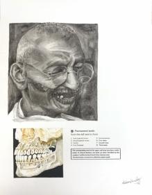 Debanjan Roy  Untitled 6, 2009  Acrylic on paper  14 x 11 in