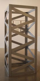 Rasheed Araeen Second Structure 1966-67 Steel, paint 72 x 32 x 32 in.