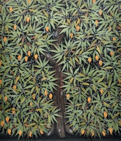 Rajan Krishnan GOLDEN FRUITS / PLANT OF SUSTENANCE 2012 Acrylic on canvas 84 x 72 in.
