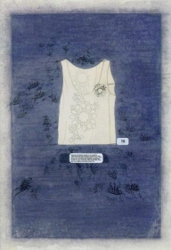 Tazeen Qayyum DO NOT GET ON SKIN OR CLOTHING 2006 Mixed media on wasli paper 13 x 9 in.