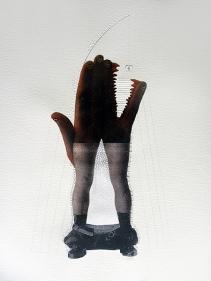 Avishek Sen, Untitled 6, 2010, Mixed media on paper, 18 x 24 in