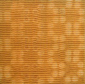 Shobha Broota  Untitled (Orange Pattern), 2017  Wool on canvas  40h x 40w in