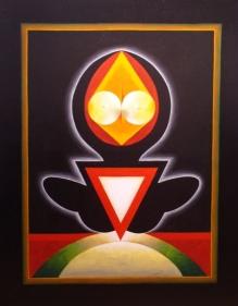 G. R. Santosh UNTITLED 81 Oil on canvas 50 x 40 in