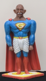 Debanjan Roy  Toy Gandhi 4 (Small Superhero)  2019  Silicone and automotive paint