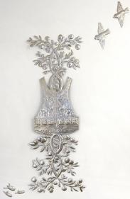 Adeela Suleman UNTITLED 4 (SUICIDE JACKET WITH LEMON TREE) (Ed. of 3) 2010 Steel 65 x 25 in.