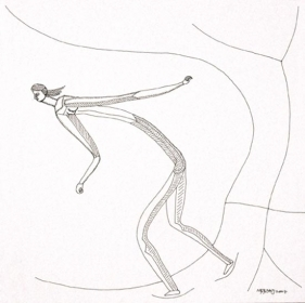 Neeraj Goswami DRAWING II 2007 Pen and ink on paper 10 x 10 in.