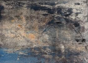 Nitin Mukul  River's Edge, 2019  Unique viscosity monoprint  11 x 15 in