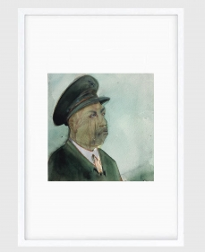 Sujith S.N.  Untitled (Portrait) 13, 2020  Watercolor on paper  6h x 6.50w in