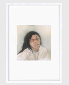 Sujith S.N.  Untitled (Portrait) 11, 2020  Watercolor on paper  6h x 6.50w in