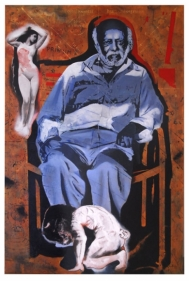 Baiju Parthan AS SIMPLE AS THAT (EROS AND MINOTAUR) 2008 Oil and acrylic on canvas 72 x 48 in.