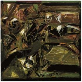 S.H. Raza UNTITLED ABSTRACT 1970s Oil on canvas 38 x 27 in.