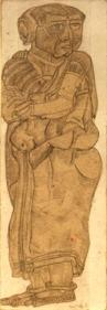 T. Vaikuntam UNTITLED (STANDING WOMAN I) Pencil on paper 7 x 2.5 in.