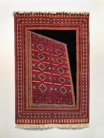 Saks Afridi  Space Time Continuum #1, 2017  Handmade wool rug  72h x 48w in