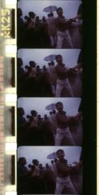 Ashish Avikunthak Film strip from Kalighat Fetish 1999 16 mm film 23 min.