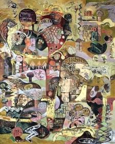 Sanatan Saha UNTITLED I 2007 Acrylic and oil on canvas 60 x 48 in.