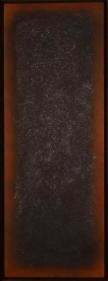 Natvar Bhavsar ANTARAA V 2003 Oil on canvas 40 x 13.5 in.