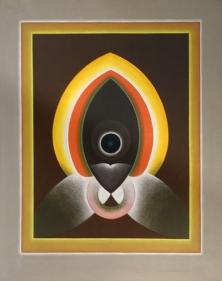 G. R. Santosh UNTITLED (GREY BORDER) Oil on canvas 50 x 40 in