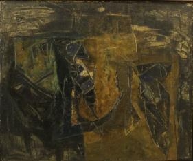 Ram Kumar  Untitled, 1961  Oil on canvas  25 x 30 x 1.88 in
