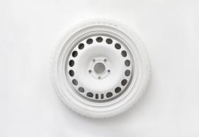 Katja Larsson  Minerva Radial F105  2020  Jesmonite, marble dust  23h x 23w x 4d in  1/3