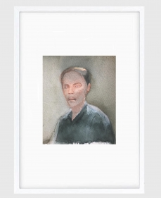 Sujith S.N.  Untitled (Portrait) 10, 2020  Watercolor on paper  6h x 6.50w in