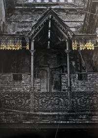 Najmun Nahar Keya  Kintsugi Dhaka (4)  2019  Photograph on archival paper, gold leaf, archival glue  17 x 13 in