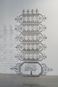 Adeela Suleman Untitled 3 (ed. 1 of 2) 2011 Stainless steel 106.5 x 72.5 in. Photo: Goswin Schwendinger