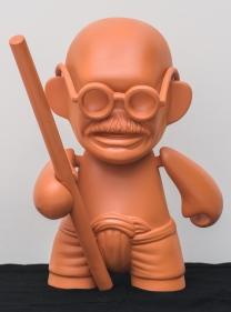 Debanjan Roy  Toy Gandhi 1 (Small Muni Doll)  2019  Fiberglass and automotive paint  15 x 12 x 8 in