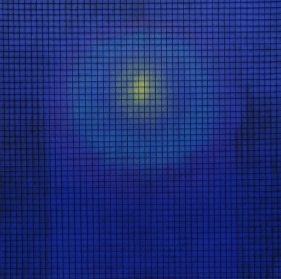 Shobha Broota  Untitled (Blue), 2016  Wool and oil on canvas  48h x 48w in