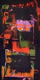 John Tun Sein UNTITLED ABSTRACT 3 (diptych) 2007 Acrylic on Canvas 48 X 24 in.