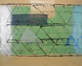S. Harsha Vardhana UNTITLED 31 2007 Acrylic on canvas 48 x 60 in.  UNAVAILABLE