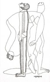 Neeraj Goswami DRAWING III 2007 Pencil, ink on board 5.5 x 3.5 in.