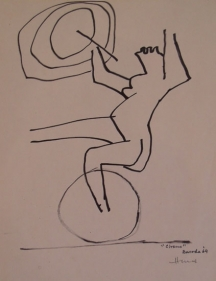 M. F. Husain CIRCUS SERIES 1 1964 Marker on paper 11 x 8.5 in.