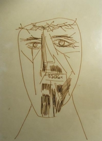 F. N. Souza UNTITLED (DRAWING 2) Pencil, pen and ink on paper 9.5 x 7 in.