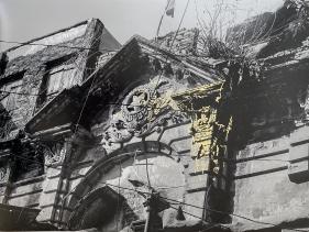 Najmun Nahar Keya  Kintsugi Dhaka (9)  2019  Photograph on archival paper, gold leaf, archival glue  13 x 17 in