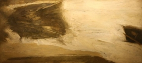 Ram Kumar UNTITLED ABSTRACT 12 1969 Oil on canvas 30 x 70 in.