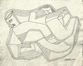 Neeraj Goswami DRAWING VI 2007 Pencil, ink on paper 7.5 x 9.5 in.