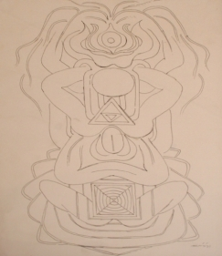 G.R. Santosh DRAWING 5 Ink on paper 14 x 10 in.