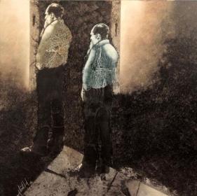 Yusuf Arakkal THE STREET - V Acrylic and oil on canvas 48 x 48 in.  NFS