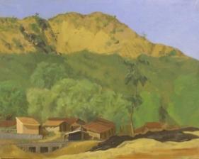 Sudhir Patwardhan UNTITLED LANDSCAPE 1 1986 Oil on canvas 15 x 19.5 in.
