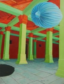 Mahendar Soni RAISEN REVISITED 2008 Acrylic on Paper 6.9 x 8.9 in. NFS